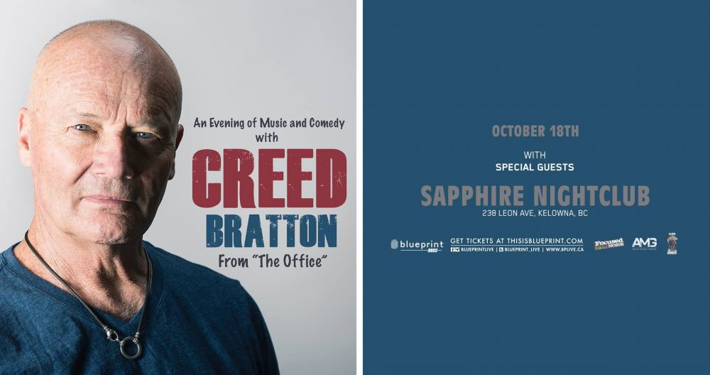 Events sapphire kelowna thurs oct 18 creed batton of the office malvernweather Choice Image